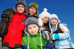 Children in Winter Clothing Royalty Free Stock Images