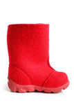 Children winter felt boot Royalty Free Stock Photography