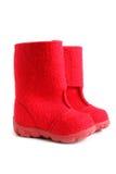 Children winter felt boots Royalty Free Stock Photos