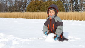 Children in winter stock video