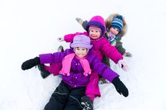 Children in wintertime Royalty Free Stock Images
