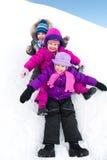 Children in wintertime Stock Photo