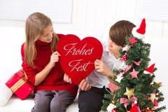 Children wish you Merry Christmas Stock Photos