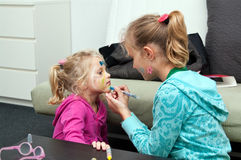 Children With Face Painting Royalty Free Stock Images