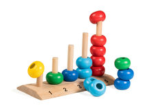 Children Wooden colorful puzzle demounted Royalty Free Stock Image