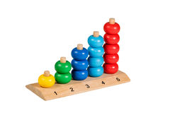 Children Wooden colorful puzzle Stock Photos