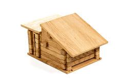 Children wooden house royalty free stock image