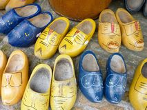 Children wooden shoes Stock Photos