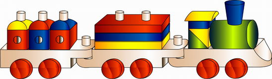Children wooden train Royalty Free Stock Photography