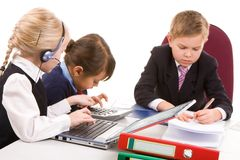 Children working Stock Photography