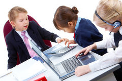Children working Royalty Free Stock Photo