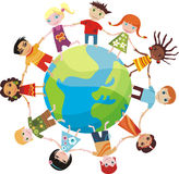 Children of the world stock illustration