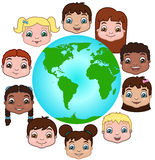Children of the World. This is an illustration of the children of the world stock illustration