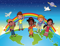 Children on the world. Stock Photography