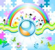 Children world vector illustration