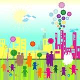 Children World. Children and community; children world vector illustration