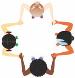 Children of the World. Children of different races hold hands Stock Photography