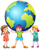 Children and the world Royalty Free Stock Images