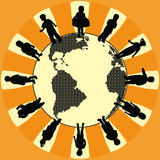 Children world, illustration, vector. Children world. Continents in dots Illustration vector illustration