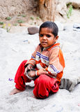 CHILDREN OF THE WORLD: Indian Child Royalty Free Stock Photo