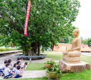 Children worship buddha Stock Photography