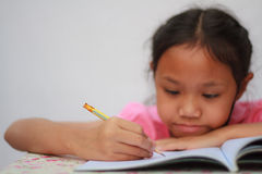 Children writing Royalty Free Stock Photography