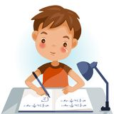 Children writing royalty free illustration