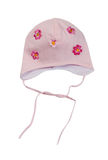 Children's cap with cloth flowers Royalty Free Stock Photo