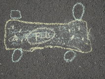 Children& x27; s kredowy rysunek na asfalcie Fotografia Royalty Free