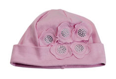 Children's pink cap. Royalty Free Stock Photography
