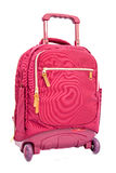 Children's school trolley bag red color Stock Image