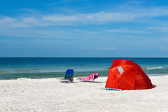Children's Shelter Beach Tent Stock Photo