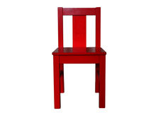 Children's wooden chair Royalty Free Stock Image
