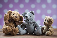 Children's World toy on a wooden background. Stock Photos