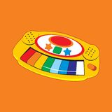 Children zabawkarscy również zwrócić corel ilustracji wektora Obraz Stock