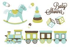 Children zabawki royalty ilustracja