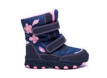 Children zimy lub jesieni mody buty odizolowywający na białym tle buty, skarbie Obraz Stock