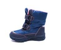 Children zimy lub jesieni mody buty odizolowywający na białym tle buty, skarbie Zdjęcia Royalty Free
