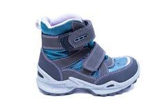 Children zimy lub jesieni mody buty odizolowywający na białym tle buty, skarbie Zdjęcie Royalty Free