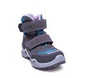 Children zimy lub jesieni mody buty odizolowywający na białym tle buty, skarbie Fotografia Royalty Free