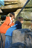 Children at the Zoo Stock Photo