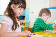 Childrenat kindergarten Royalty Free Stock Images