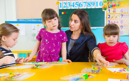 Childrenat kindergarten Stock Photography