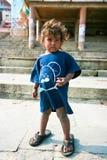 childrenbeggersvaranasi barn Royaltyfri Foto