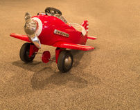 Childs Pedal Airplane. A childrens airplane pedal play toy Royalty Free Stock Photos