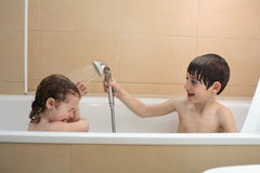 Childrens bath time Royalty Free Stock Photo