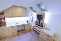Childrens bedroom. Modern new childrens / girls bedroom stock photography