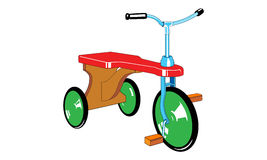 Childrens bicycle. Vector illustration of childrens bicycle stock illustration