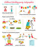 Childrens Birthday. Infografics Royalty Free Stock Images