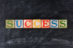 Childrens Blocks Spelling Out Success royalty free stock image